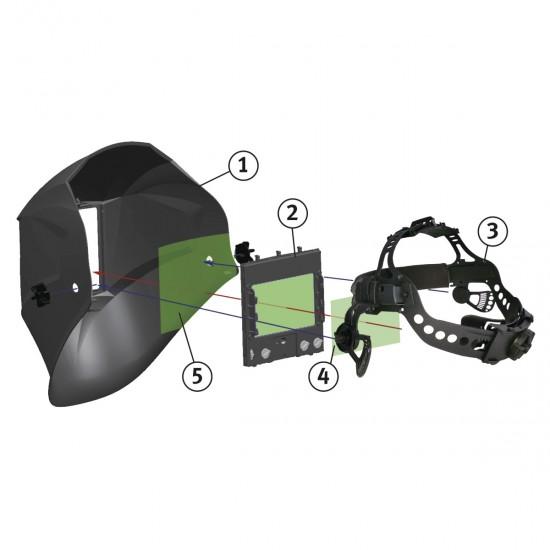 Ηλεκτρονική μάσκα συγκόλλησης Schweisskraft VarioProtect L-W