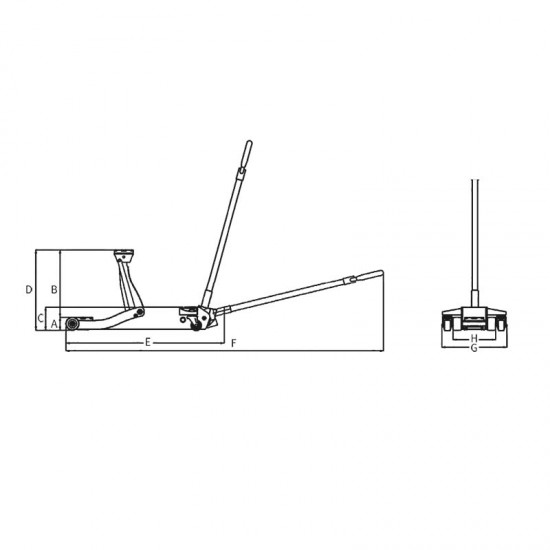 Υδραυλικός γρύλλος καρότσι Unicraft SRWH 3001 SIL