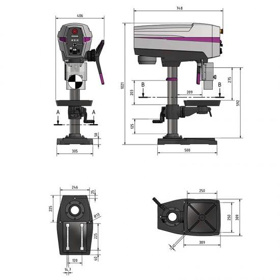 Δράπανο κολωνάτο Optimum DP 26-T (400 V)