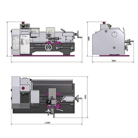 Επιτραπέζιος Τόρνος Μετάλλου Optimum TU 2406 400V