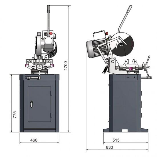 Δισκοπρίονο κοπής σιδήρου  του οίκου OPTIMUM CS 275