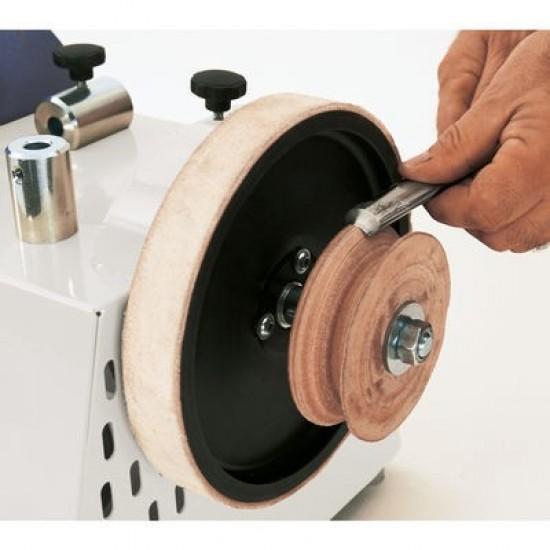 Δερμάτινος δίσκος για ημικυκλικά σκαρπέλα Φ 100